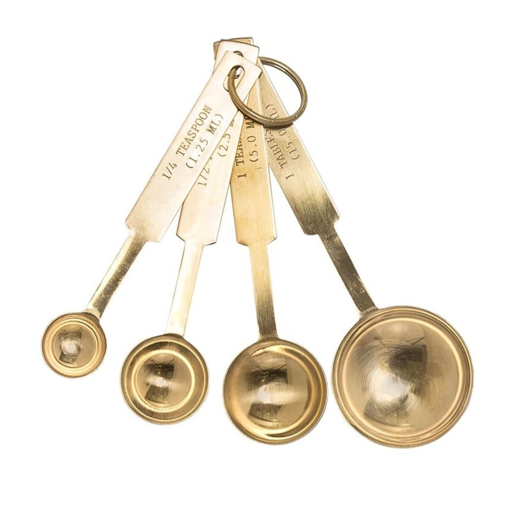 Stainless Steel Measuring Spoons in Gold, Set of 4