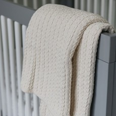 Cable Knit Baby Blanket