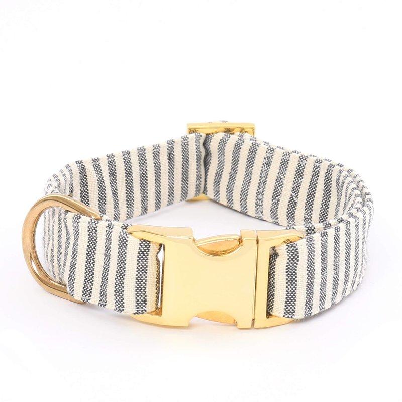 The Foggy Dog Charcoal Stripe Dog Collar