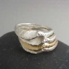 Maddalena Bearzi Onda Silver Ring Size 7