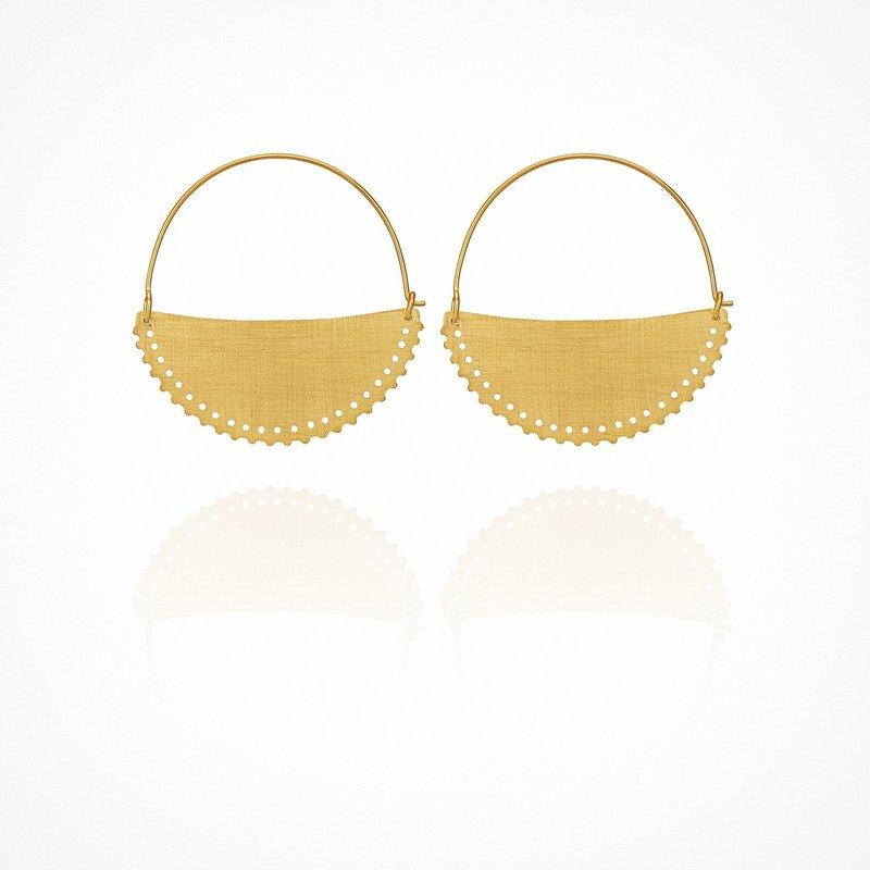 Temple Of The Sun Kilo Small Gold Earrings