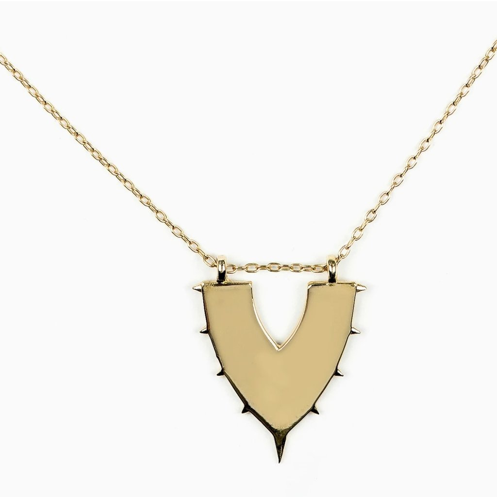ILD Drift Small Shield Necklace