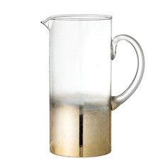 Glass Pitcher, Gold Ombre Finish
