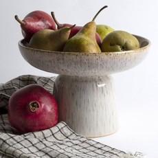 Round Stoneware Footed
