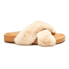 Matisse Seasons Natural Faux Fur Slide