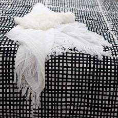Organic Cotton Muslin Swaddle Blanket - w Fringe