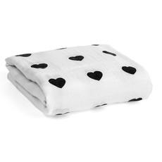 Organic Cotton Muslin Swaddle Blanket - Heart