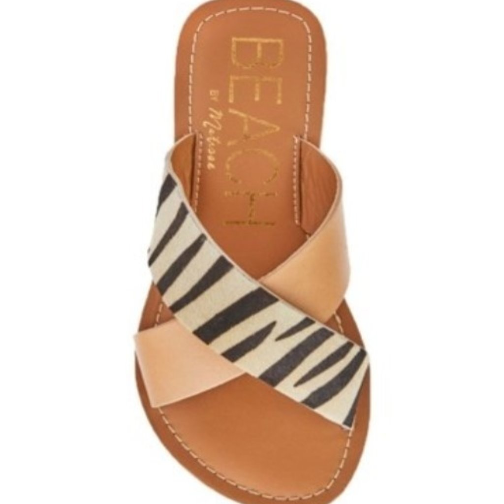 Matisse Pebble Natural/Zebra Slide
