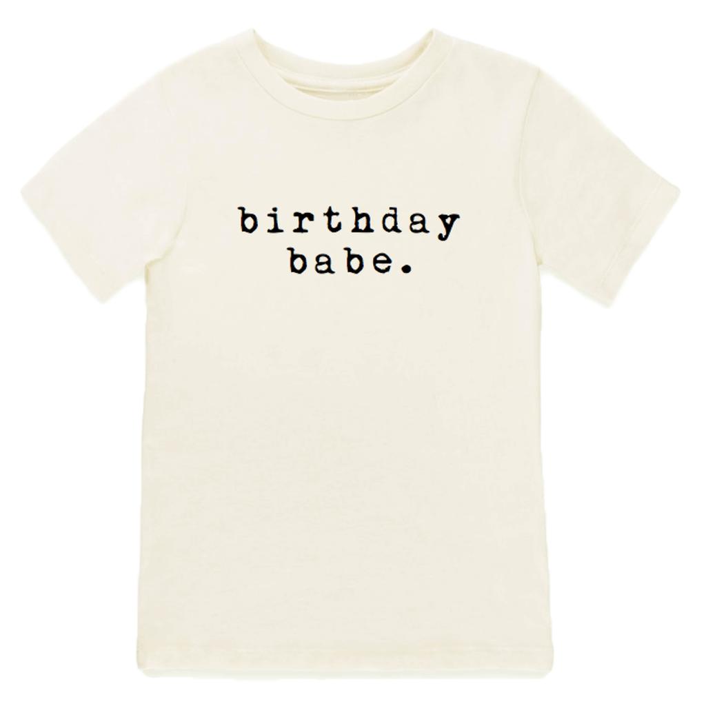 Tenth & Pine Birthday Babe Short Sleeve Tee/ Black