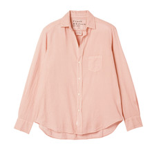 Frank & Eileen Eileen Woven Button Up Peach Voile