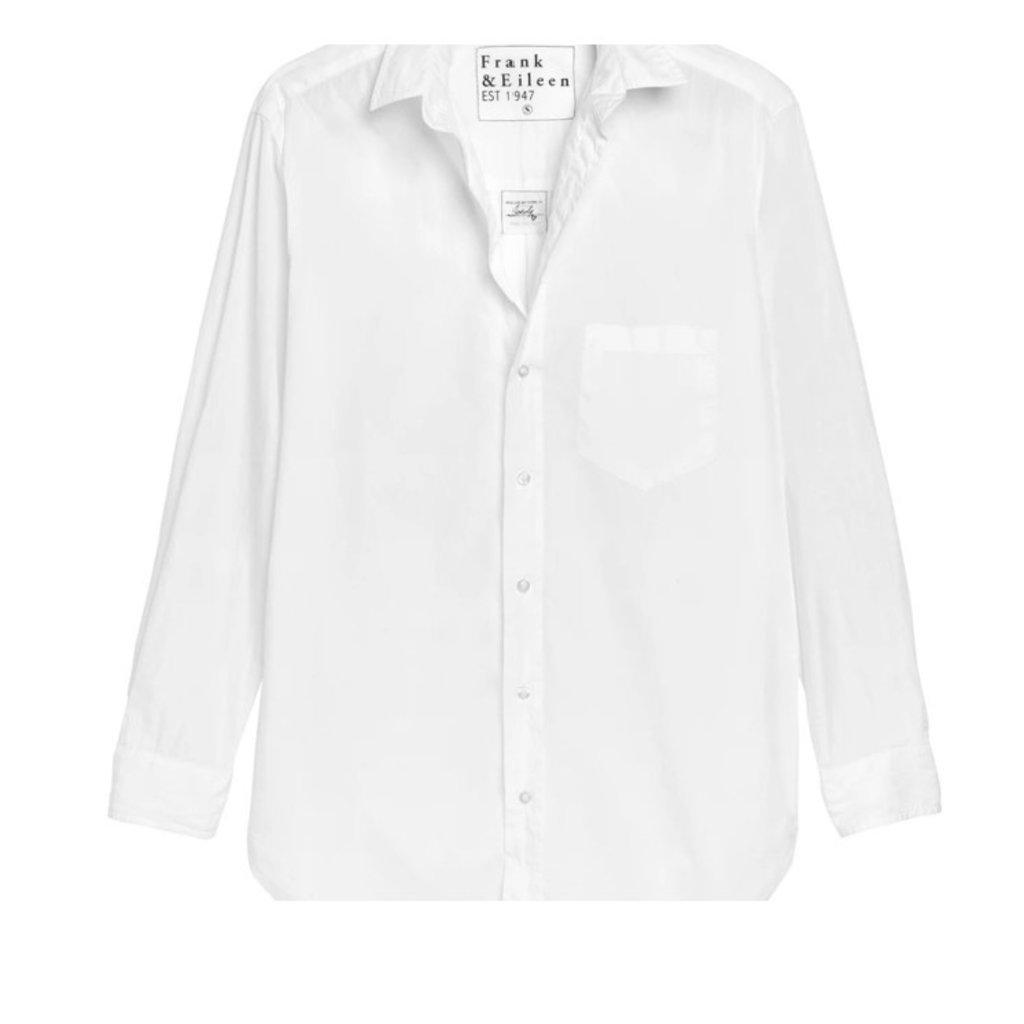 Frank & Eileen Joedy Woven Button Up White Piumino