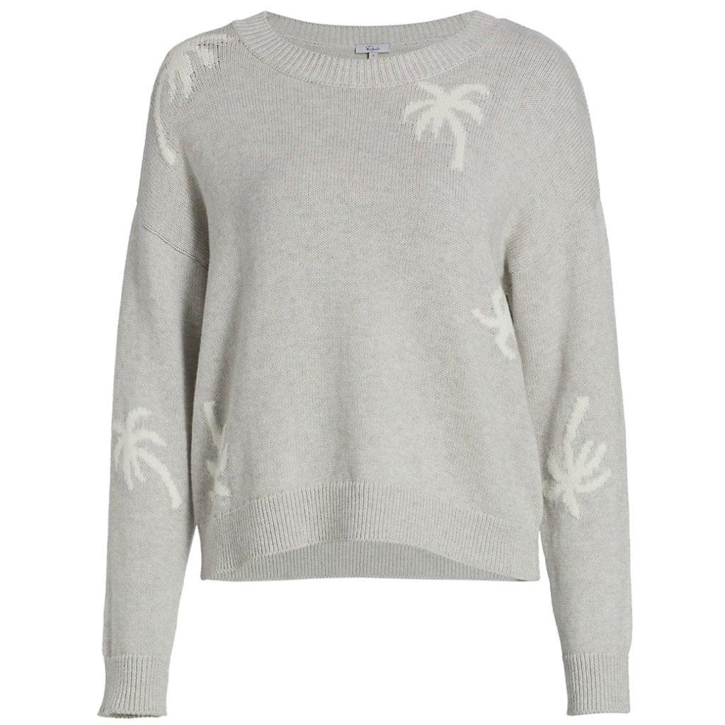 Rails Perci Cashmere Blend Sweater Heather Grey Palms