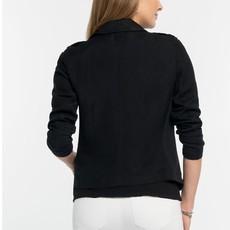 Linen Biker Jacket Black