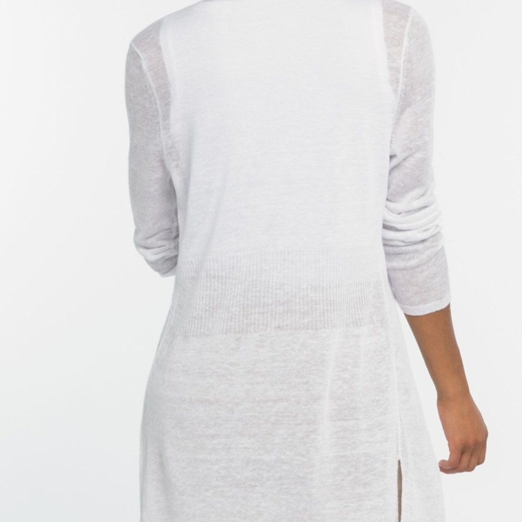 Long Back of the Chair Cardi White
