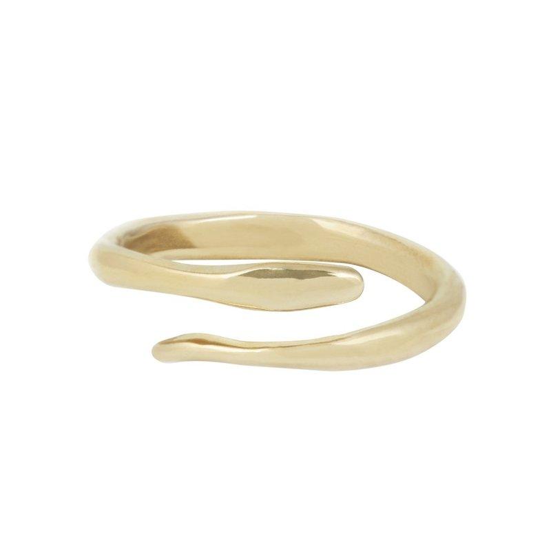 Marisa Mason Oracle Adjustable Brass Ring