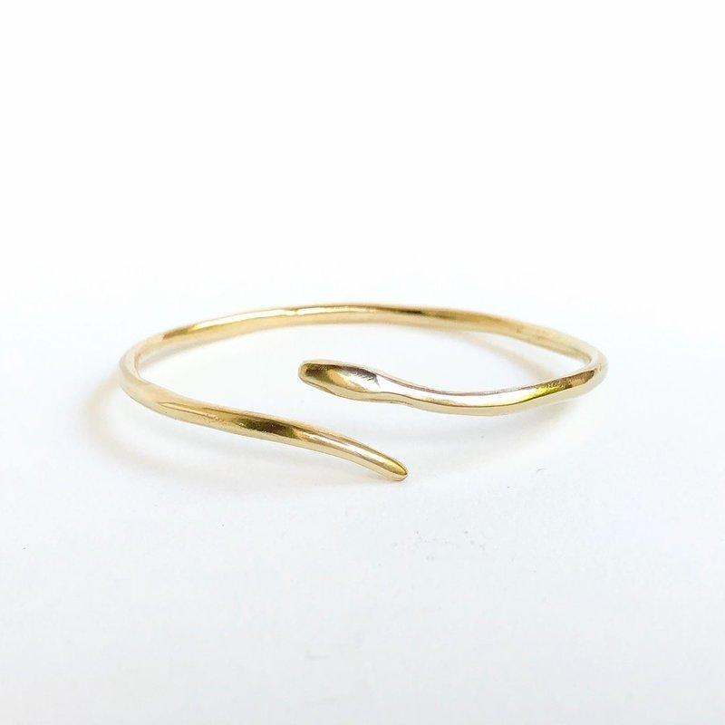 Marisa Mason Serpent Brass Banglet