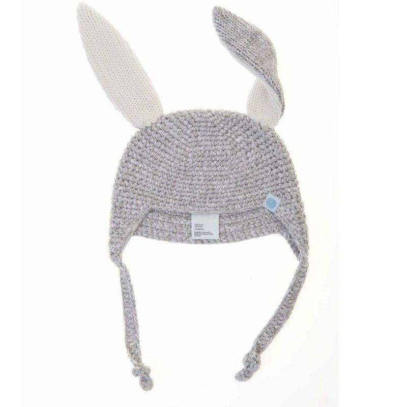 Beba Bean Crochet Bunny Toque Grey