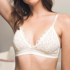 Ivory Flower Bunch Lace Bralette