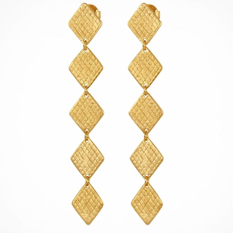Temple Of The Sun Thera Gold Earrings