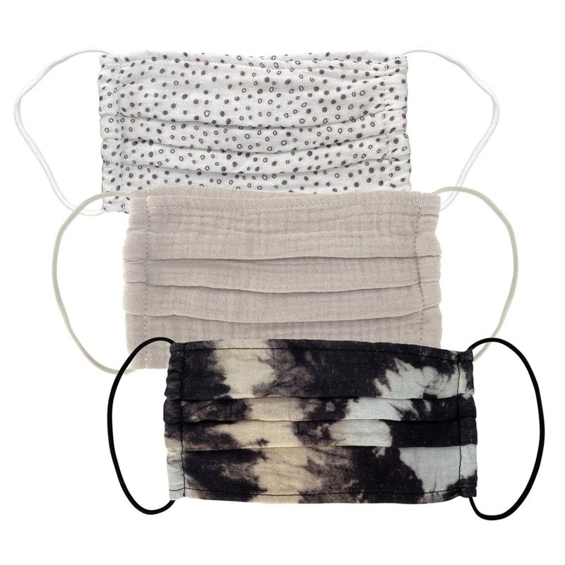 Cotton Mask Assorted Neutral Set of 3