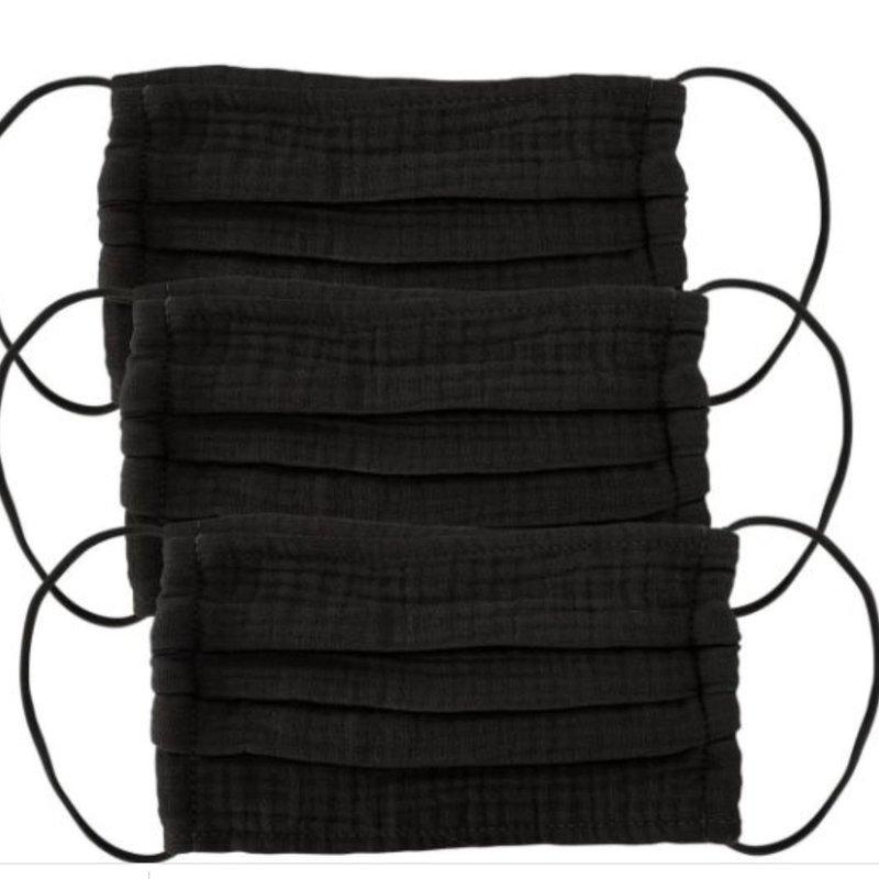 Cotton Mask Black Set of 3