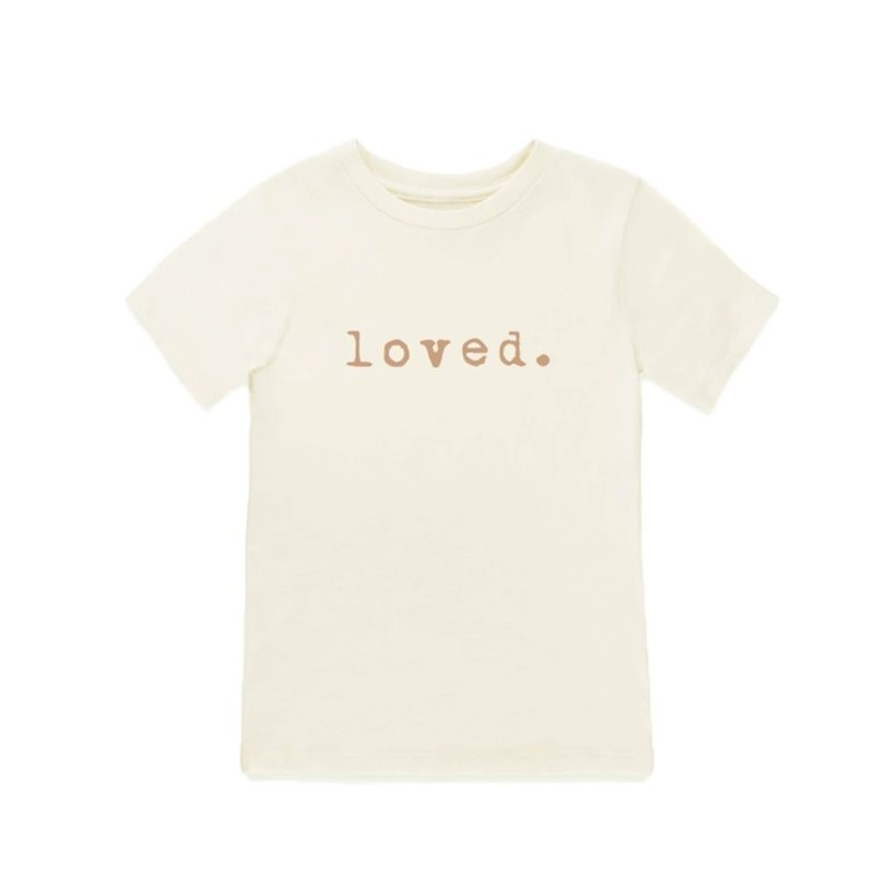 Tenth & Pine Short Sleeve Tee Loved - Clay 2/3T