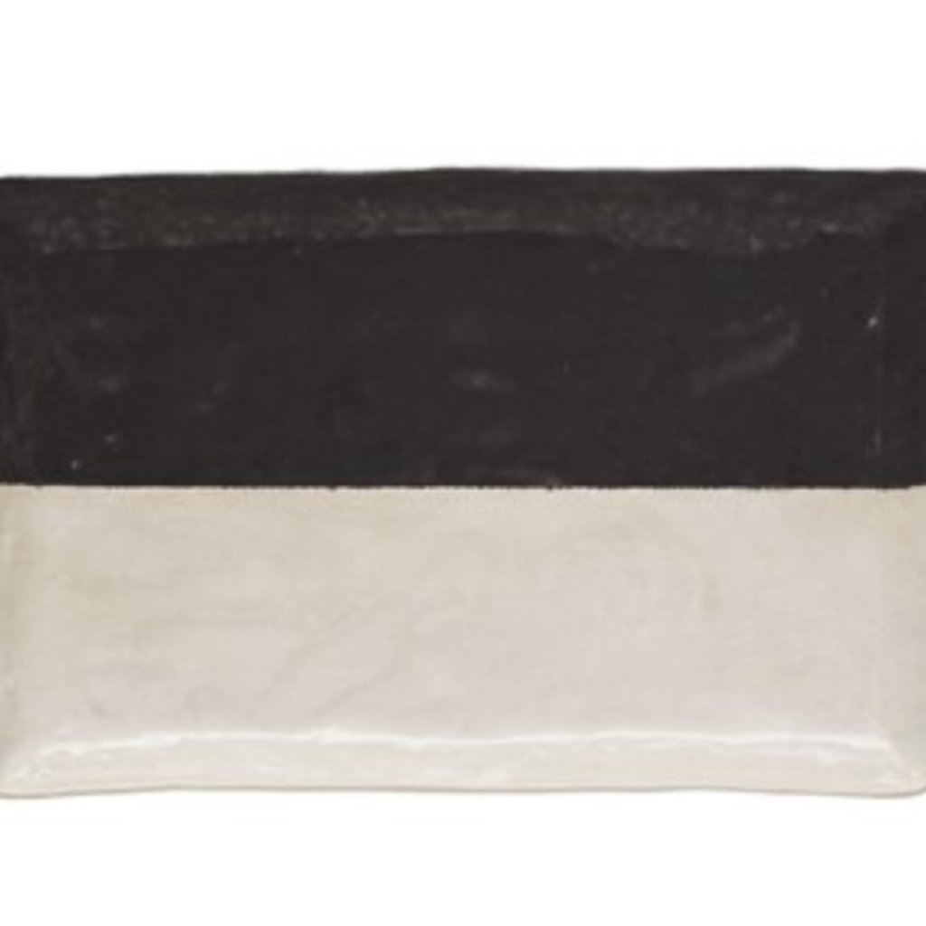 Stoneware Plate Black & White