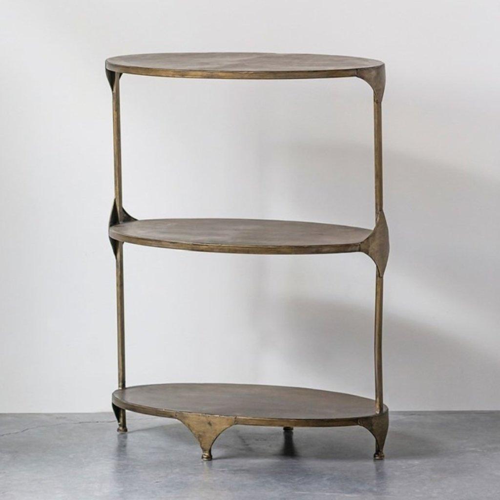 Oval Metal 3-Tier Shelf