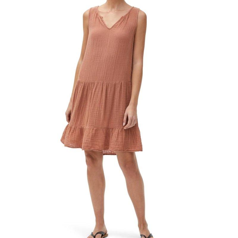 Michael Stars Scarlet Gauze Flounce Dress