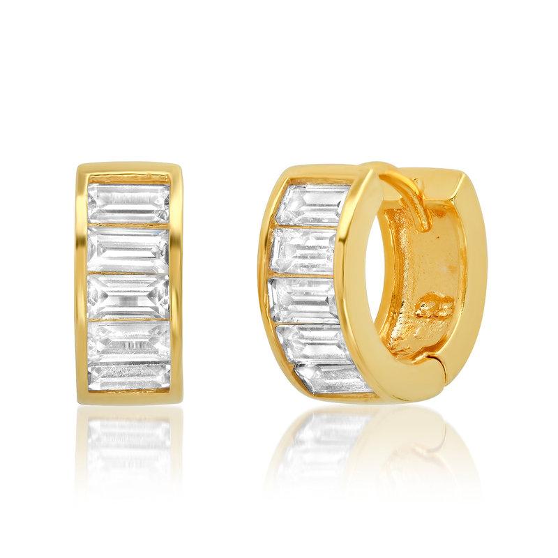 Tai GV Baguette Huggie Earrings