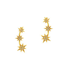 Tai Gold  Starburst Climber Earring