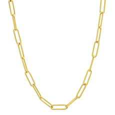 Tai Gold Oval Links Chain Necklace