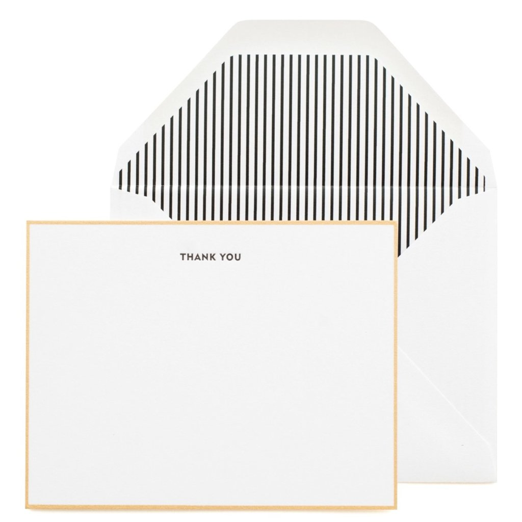 Sugar Paper Classic Black Thank You Note Box Set