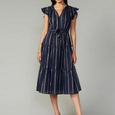 Natasha Metallic Yarn Dye Midi Dress