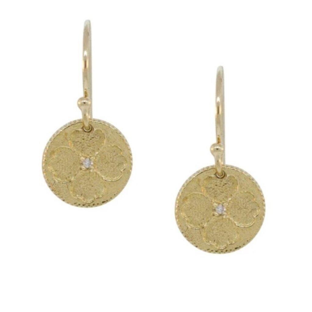Lulu Flynn Yellow Bronze Small Earrings