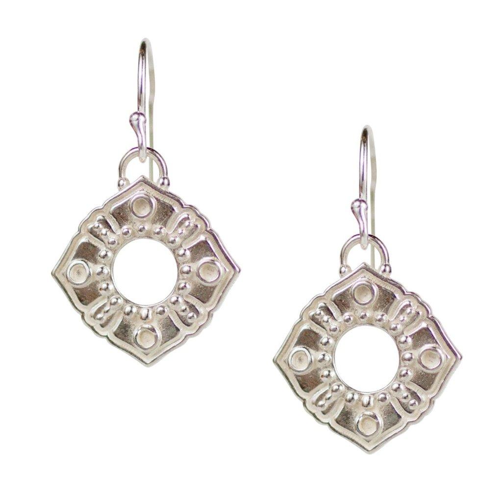 Lulu Anahata Sterling Silver Boundless Heart Earrings