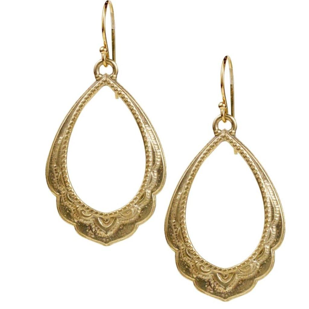 Lulu Maya Yellow Bronze Spiritual Reality Earrings