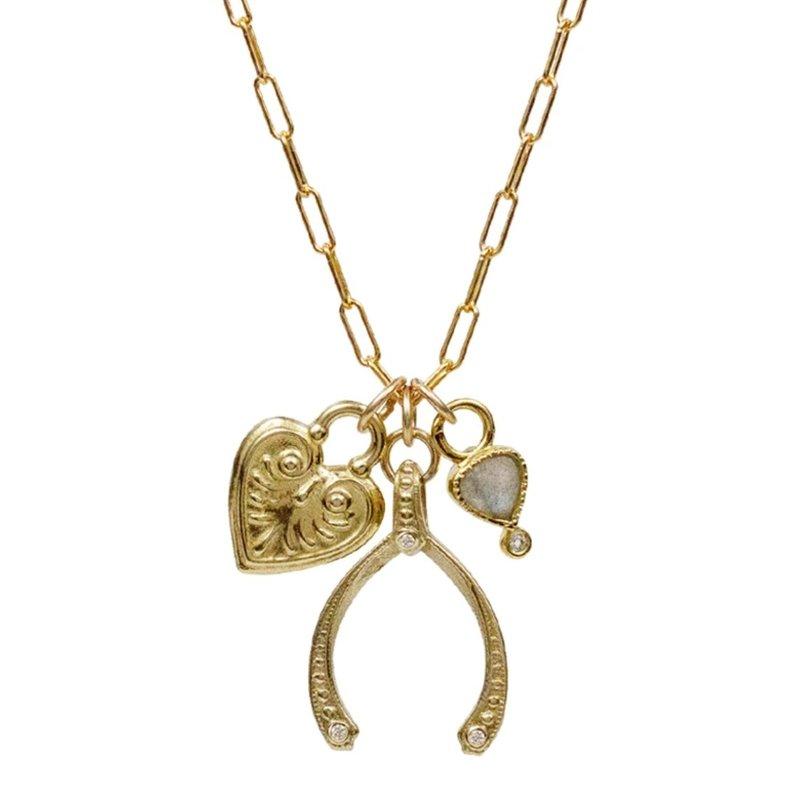 Lulu Bobby Charm Labradorite Necklace