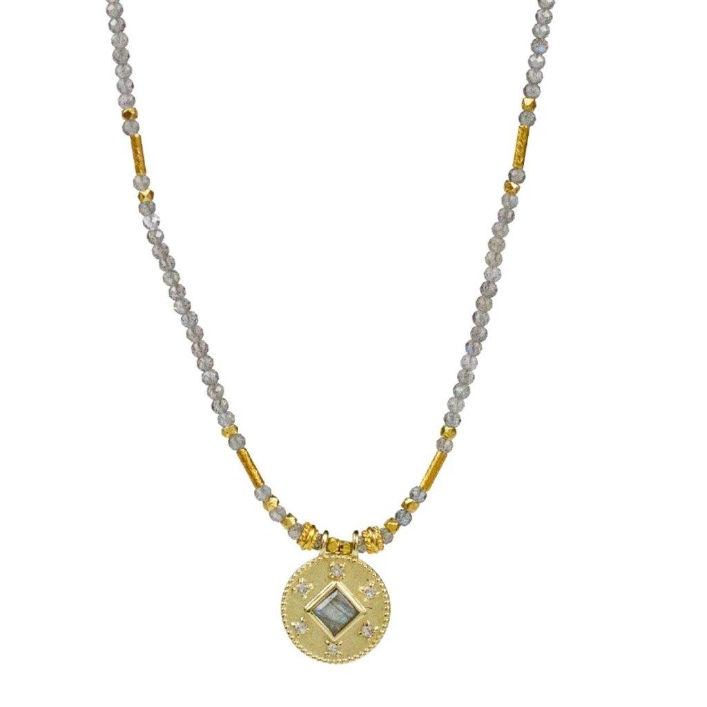 Lulu Cosima Labradorite Beaded Necklace