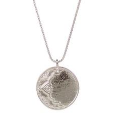 Lulu Ayla Sterling Silver Necklace w Diamond