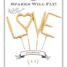 "Sparkler Card LOVE 4"""
