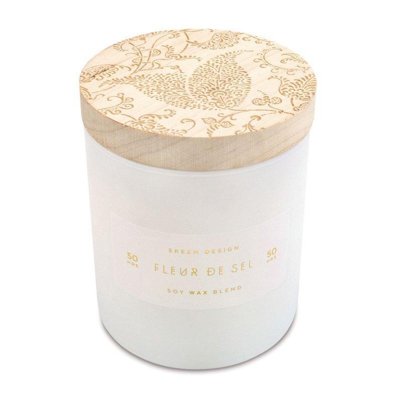 Skeem Small Print Block Candle Fleur De Sel