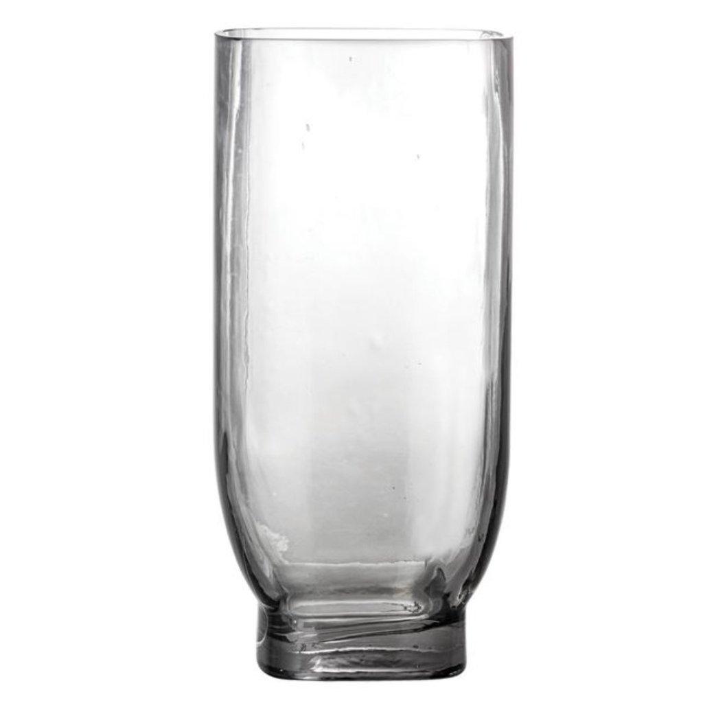 Glass Vase, Smoke Color