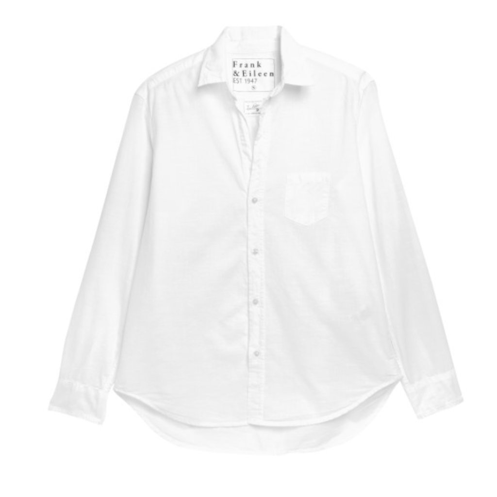 Frank & Eileen Eileen Woven Button Up Classice White Chambray