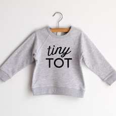 Tiny Tot Gray French Terry Organic Kids Pullover