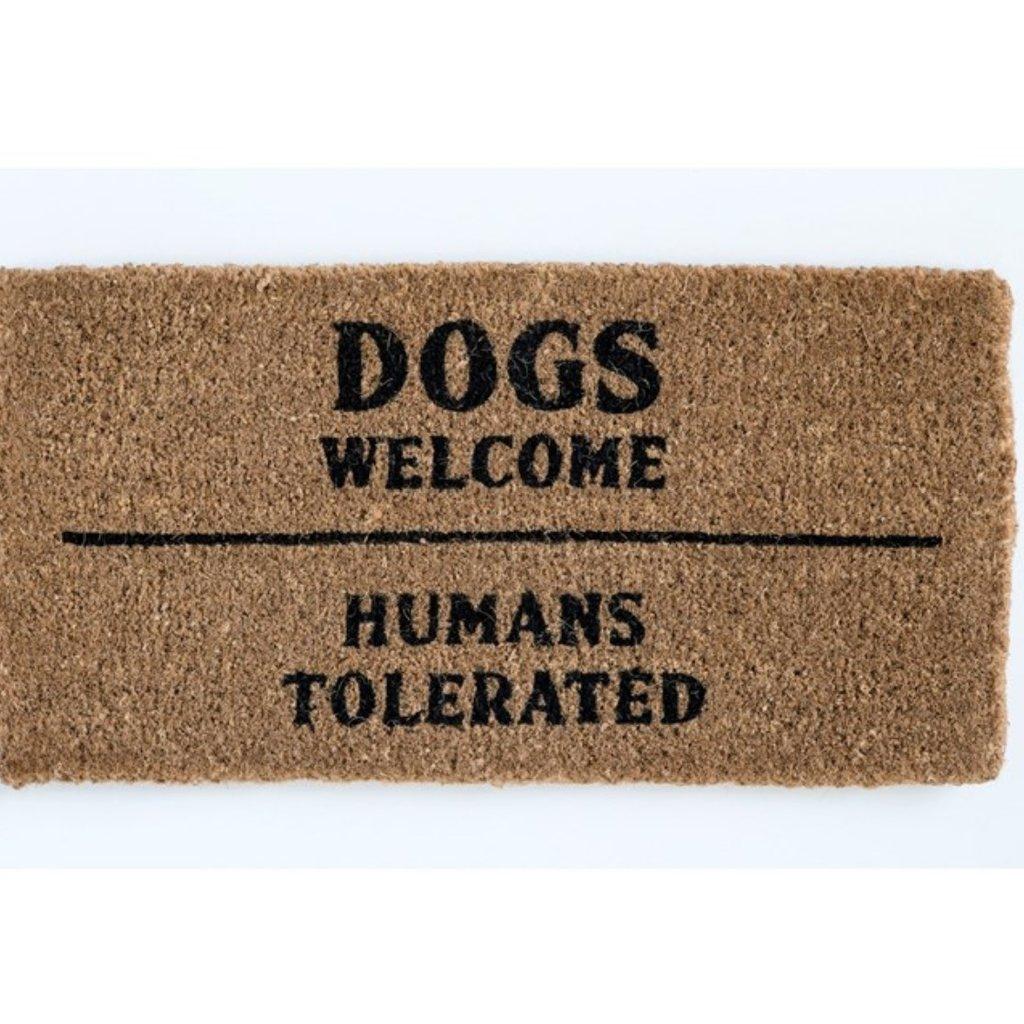Dogs Welcome Natural Coir Doormat