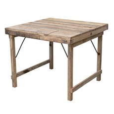 "36"" Square Wood Folding Table"