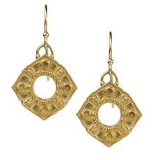 Lulu Anahata Bronze Boundless Heart Earrings