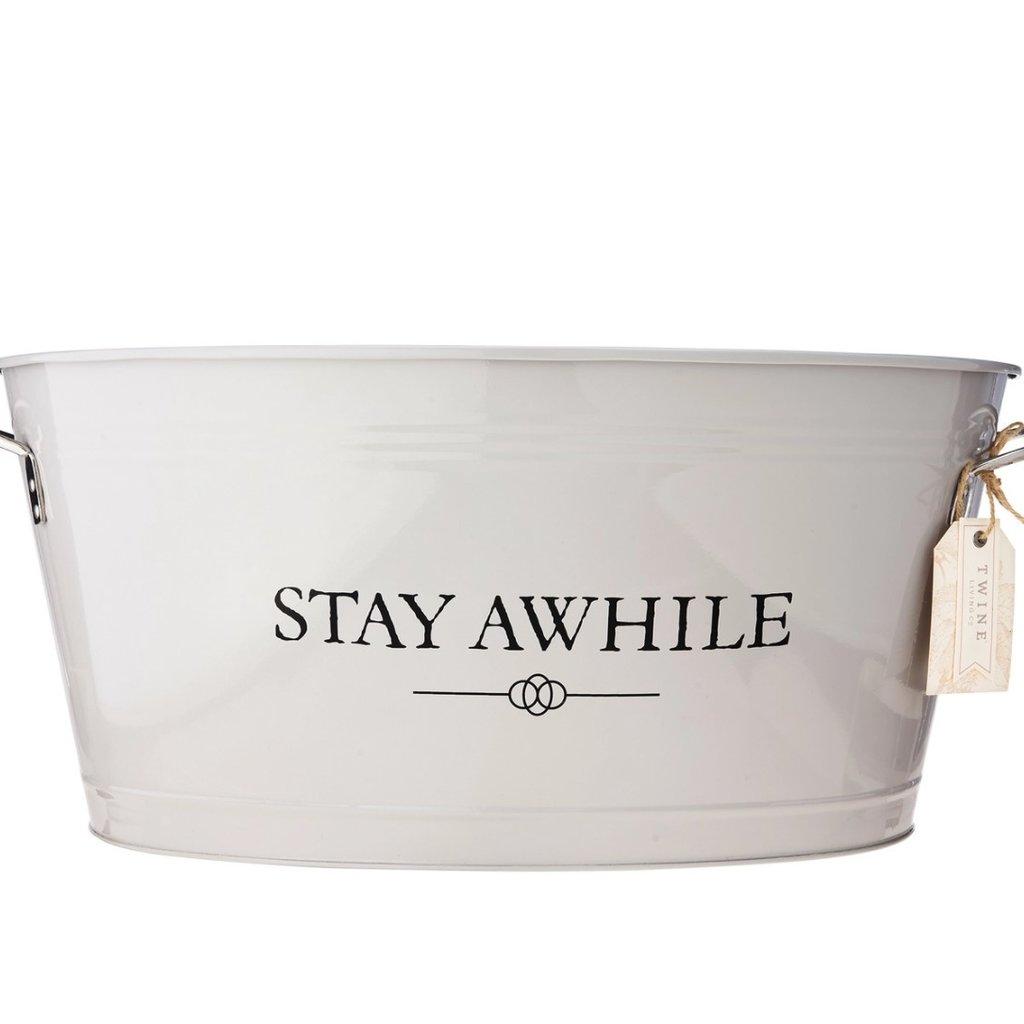 Stay Awhile Metal Drink Tub