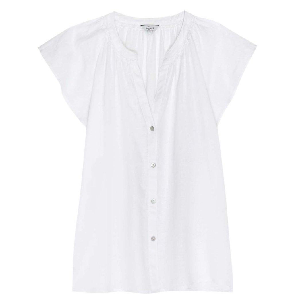 Rails Alena White Summer Button Up Short Sleeve